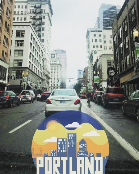 Snapchat memory of Portland